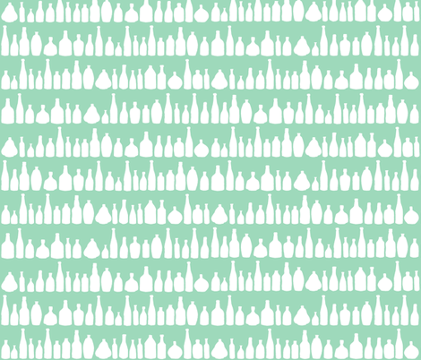 Bottles Mint fabric by projectm on Spoonflower - custom fabric