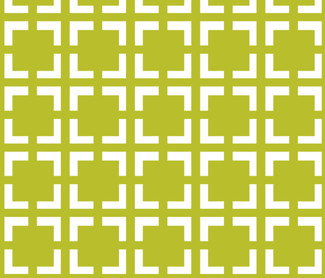 Moroccan Solid Square in Chartreuse fabric by fridabarlow on Spoonflower - custom fabric
