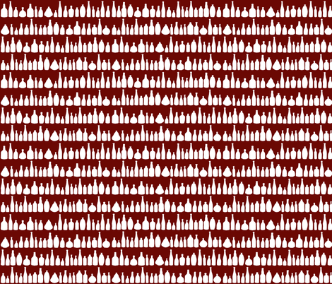 Bottles Red fabric by projectm on Spoonflower - custom fabric