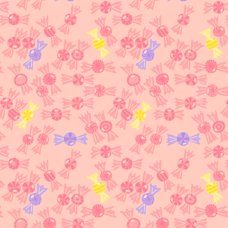 Tiny Shiny Toothsome Sweets fabric by mongiesama on Spoonflower - custom fabric