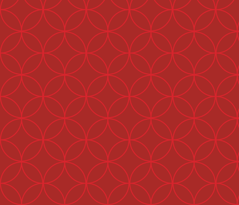 Graphic Circles Red - Large fabric by tinag on Spoonflower - custom fabric