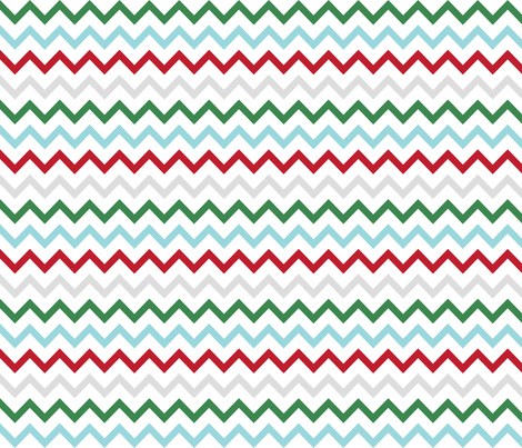 christmas chevron multi two fabric by misstiina on Spoonflower - custom fabric
