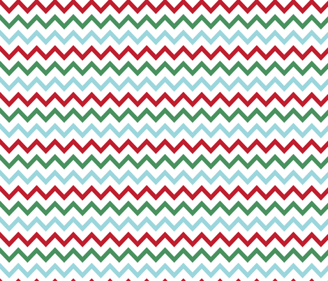 MT Xmas Multi Chevron Red / Green / Blue fabric by misstiina on Spoonflower - custom fabric