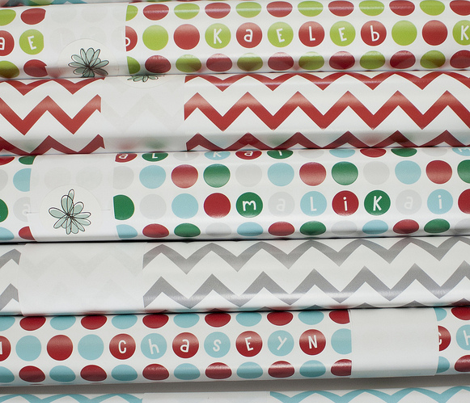 christmas chevron blue