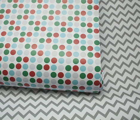 christmas chevron grey