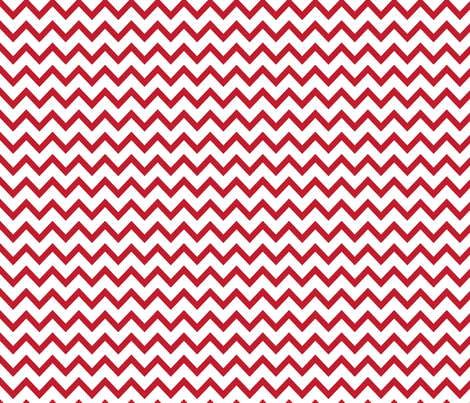 MT Xmas Chevron Red fabric by misstiina on Spoonflower - custom fabric