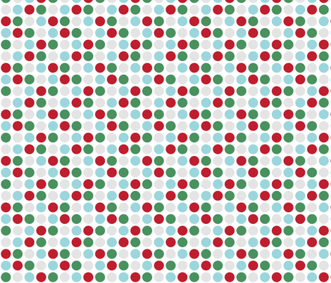 MT Xmas Dots Red / Green / Blue / Grey fabric by misstiina on Spoonflower - custom fabric