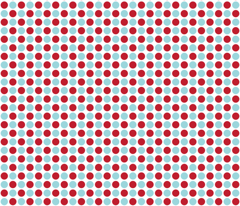 MT Xmas Dots Red / Blue fabric by misstiina on Spoonflower - custom fabric
