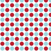 MT Xmas Dots Red / Blue