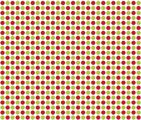 MT Xmas Dots Red / Lime Green fabric by misstiina on Spoonflower - custom fabric
