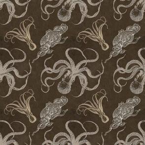 steampunk octopus print