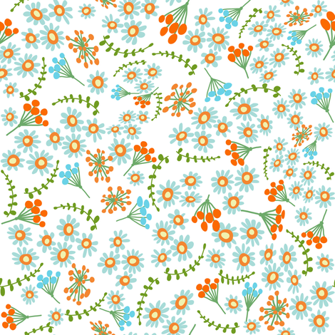 Happy Ditsy fabric by vo_aka_virginiao on Spoonflower - custom fabric