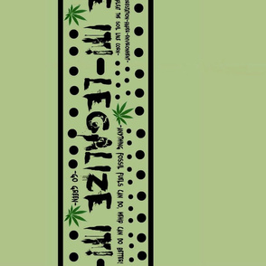 Legalize it border fabric design