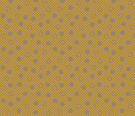 daisy dots gold fabric by glimmericks on Spoonflower - custom fabric