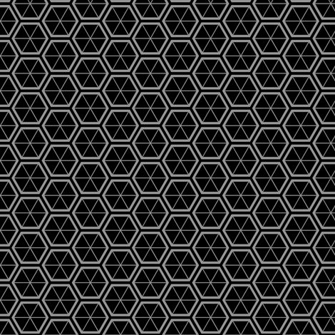 Hexagons in Black fabric by shelleymade on Spoonflower - custom fabric