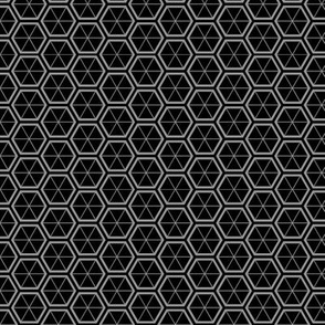 Hexagons in Black