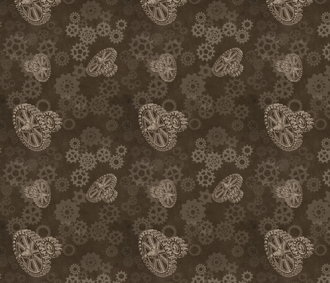 gears fabric by trollop on Spoonflower - custom fabric