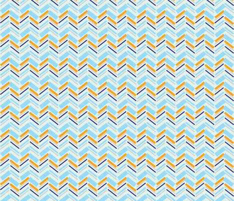 Chevron Sea fabric by raindrop on Spoonflower - custom fabric
