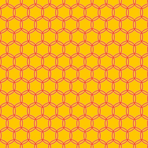 Connecting Circles in Yellow and Orange