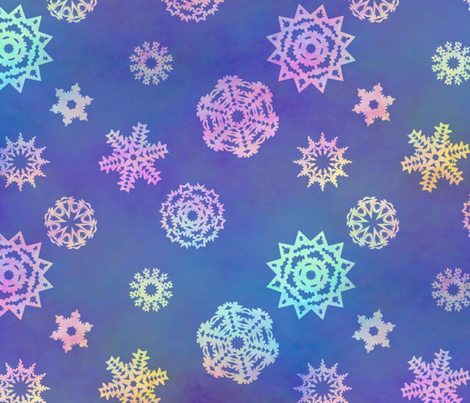 Crystalline Delight ~ Snowflakes fabric by peacoquettedesigns on Spoonflower - custom fabric