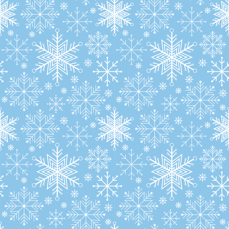 Let it Snow fabric by jjtrends on Spoonflower - custom fabric