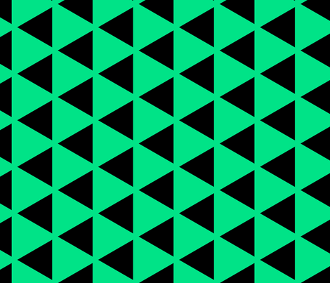 Sleyer Triangles Green fabric by stoflab on Spoonflower - custom fabric