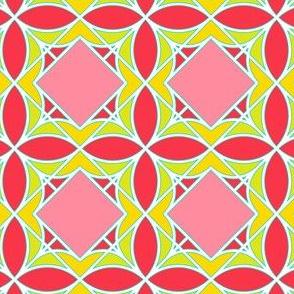 Diamonds and Flowers Multicolor