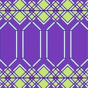 Iron Bars in Purple Tones