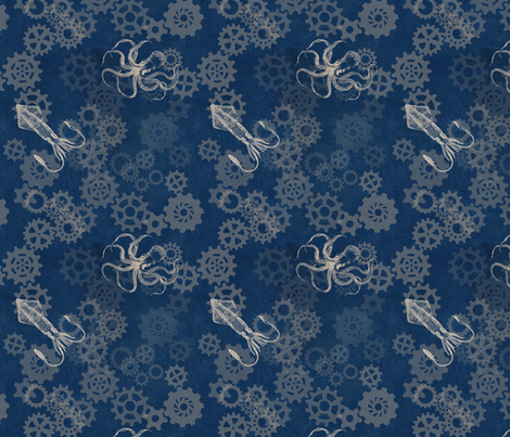 Octopus Gears fabric by trollop on Spoonflower - custom fabric