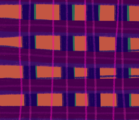 Folk Check fabric by monique_design on Spoonflower - custom fabric