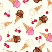 Ice Cream Scatter Pattern
