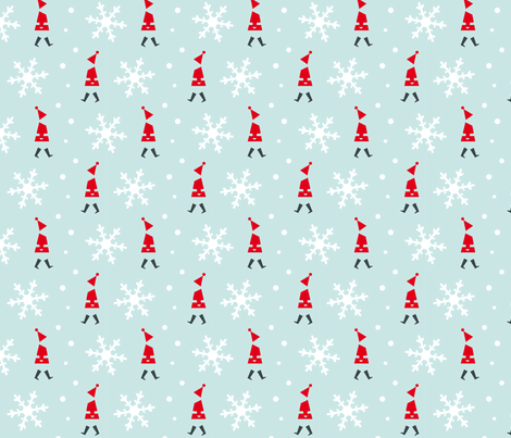Christmas snowflake fabric by happy_to_see on Spoonflower - custom fabric