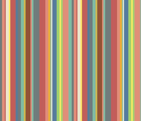 Muted stripes fabric by greennote on Spoonflower - custom fabric