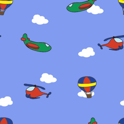 Flying Machines fabric by bumblebeedc on Spoonflower - custom fabric