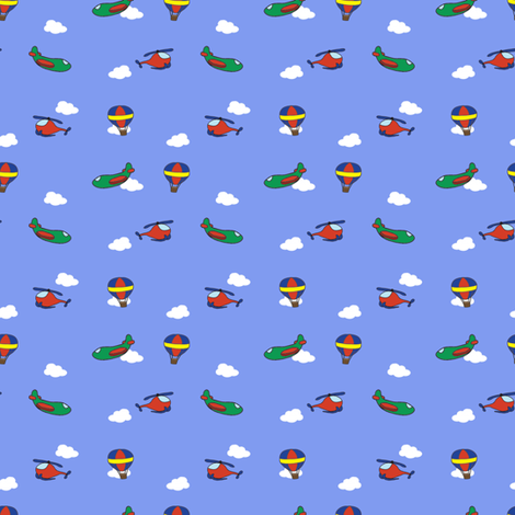 Flying Machines Small fabric by bumblebeedc on Spoonflower - custom fabric