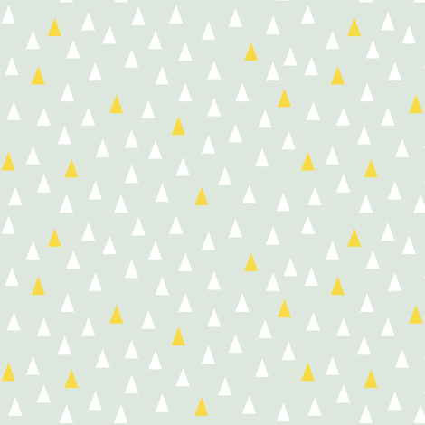 Triangles Light Green fabric by nobleandable on Spoonflower - custom fabric