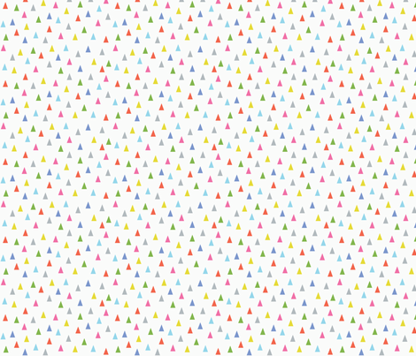 Multi-coloured Triangles fabric by nobleandable on Spoonflower - custom fabric