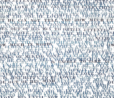 Sentences Of Love fabric by projectm on Spoonflower - custom fabric