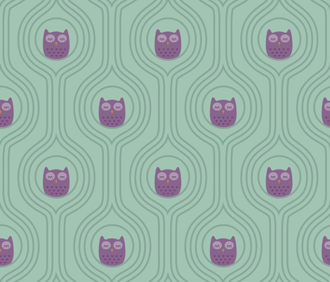 Sofie tree owl fabric by studioformo on Spoonflower - custom fabric