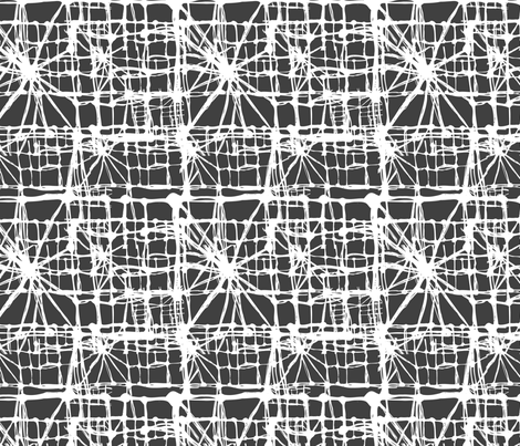 Threads. Black and white version. fabric by smalty on Spoonflower - custom fabric