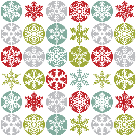 Snowflakes fabric by ebygomm on Spoonflower - custom fabric
