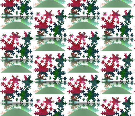 Snowflakes Melting fabric by anniedeb on Spoonflower - custom fabric