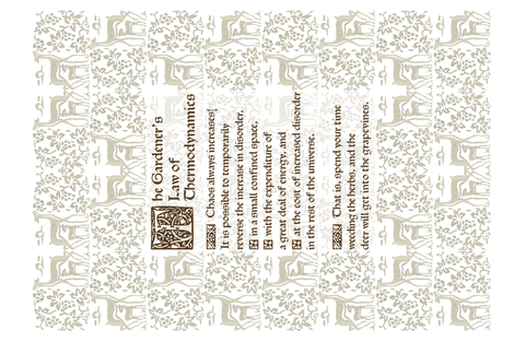 Gardeners Law of Thermodynamics teatowel - sepia text on lt taupe fabric by mina on Spoonflower - custom fabric