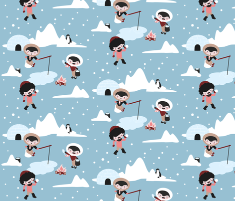snowtime! fabric by haba on Spoonflower - custom fabric