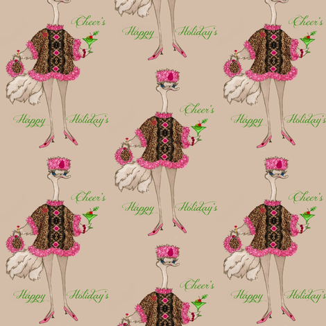 Olivia Happy Holidays fabric by paragonstudios on Spoonflower - custom fabric
