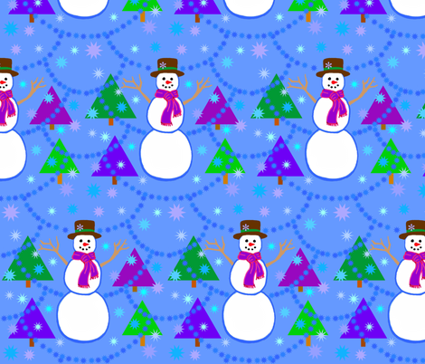 Snowfall fabric by painter13 on Spoonflower - custom fabric