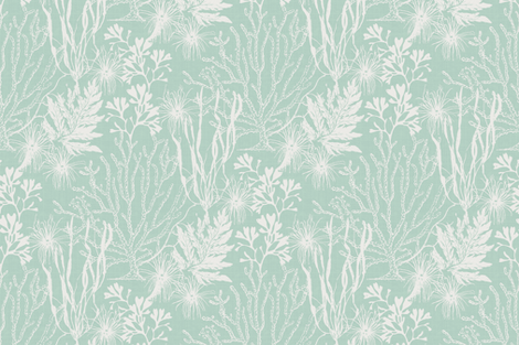 Poseidon Aqua fabric by littlerhodydesign on Spoonflower - custom fabric