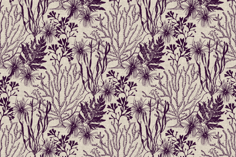 Poseidon Plum fabric by littlerhodydesign on Spoonflower - custom fabric