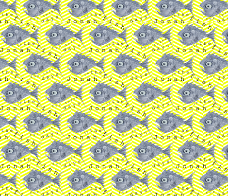 FISH_finished_YELLOW_ZIG_ZAG_background fabric by cassiesommer on Spoonflower - custom fabric