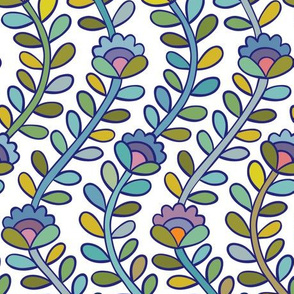 Flower Doodle Vines
